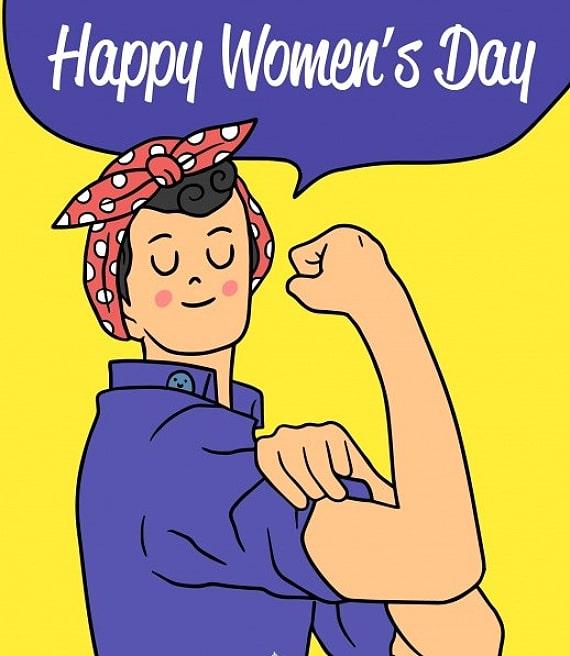 Happy Women's Day emancipazione donna forzuta